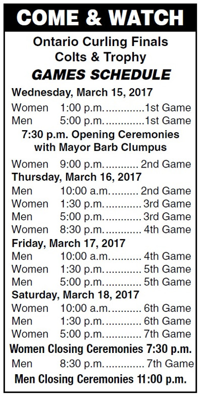 curling schedule mar 2017