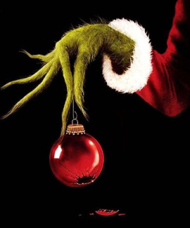 grinch hand ornament 270