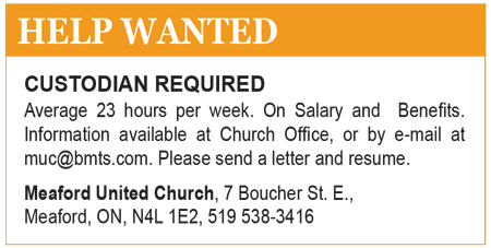 Help Wanted Meaford United