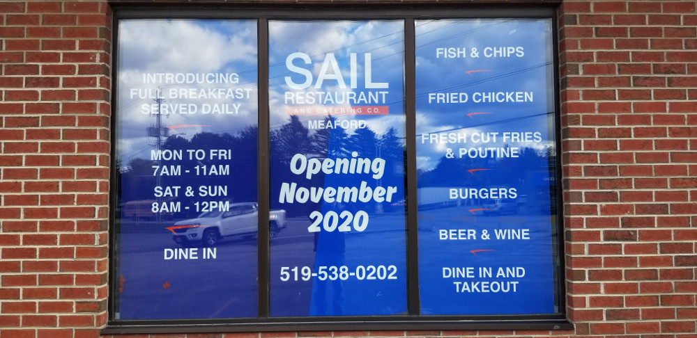 Sail Restaurant in Meaford Is Moving